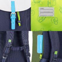 """""""LIAM JUNIOR"""" újrahasznosított hátizsák, kék multicolor, Johnny Urban"""
