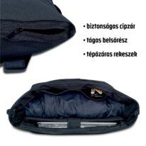 """""""AARON"""" újrahasznosított nagyméretű rolltop hátizsák, fekete, Johnny Urban"""