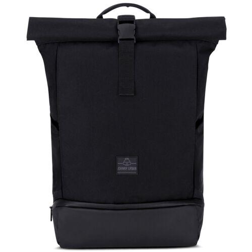 """""""ALLEN"""" újrahasznosított nagyméretű rolltop hátizsák, fekete, Johnny Urban"""