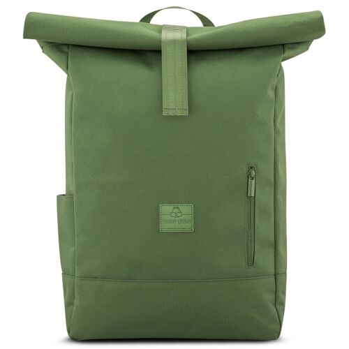 """""""AARON"""" újrahasznosított nagyméretű rolltop hátizsák, zöld, Johnny Urban"""