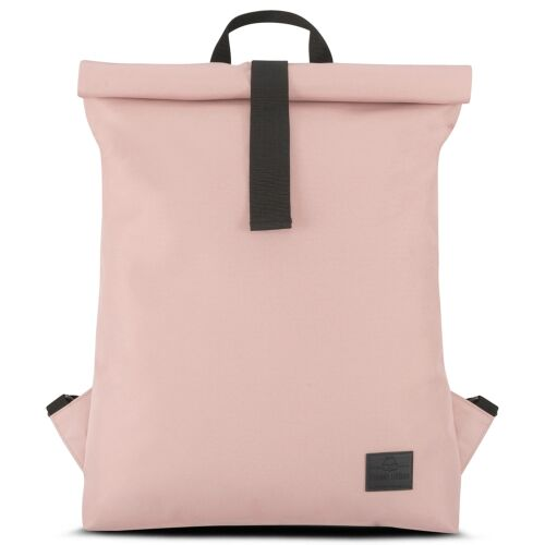 """""""EMIL"""" újrahasznosított nagyméretű rolltop hátizsák, púder rózsaszín, Johnny Urban"""