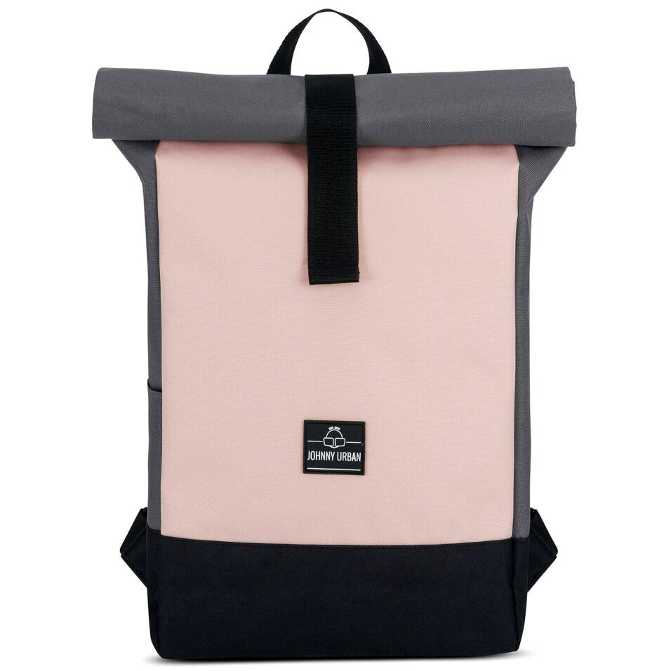 """""""Ryan"""" újrahasznosított rolltop hátizsák, szürke-rózsaszín, Johnny Urban"""