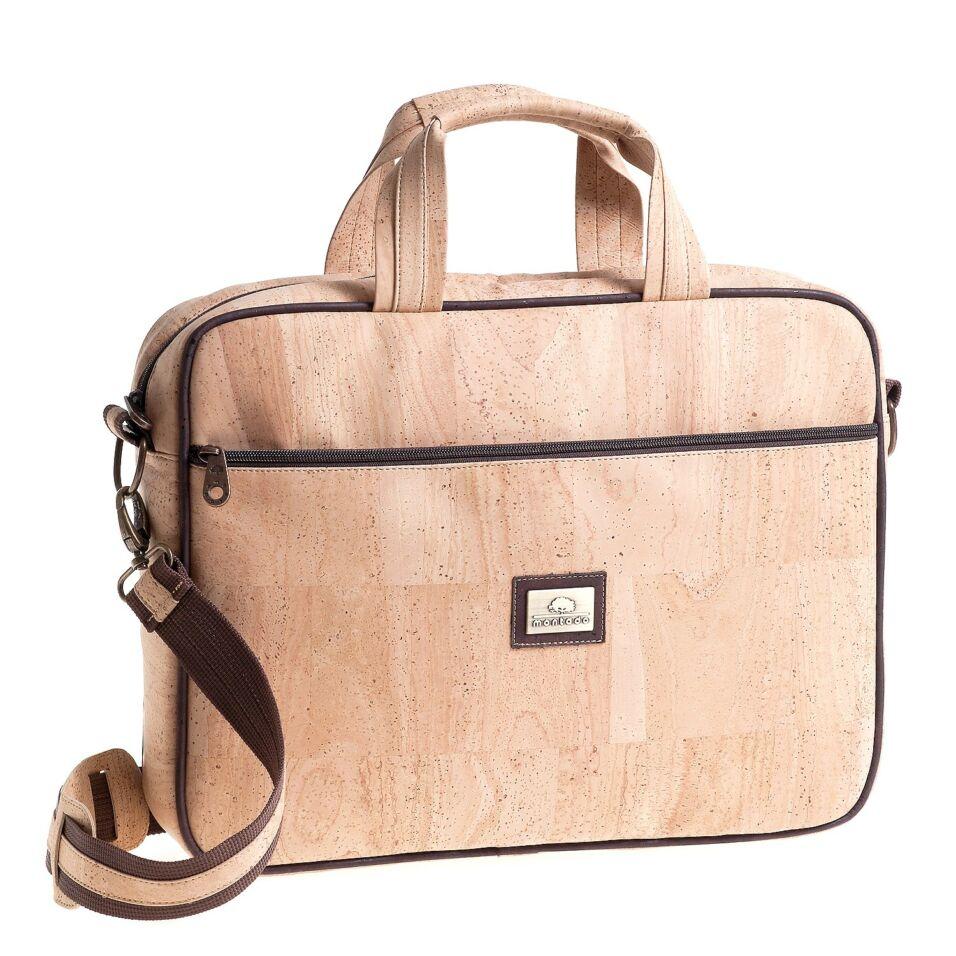 Montado parafa laptop táska, világos natúr parafa